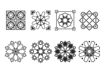 Free Islamic Ornaments Vector - бесплатный vector #428899