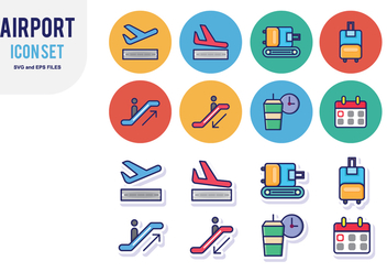 Airport Icon Set - Kostenloses vector #428909