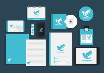 Paloma Corp Corporate Identity Free Vector - бесплатный vector #428929