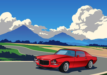 Racecar in the Mountains Vector - Free vector #428969
