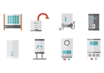 Free Water Heater Collection Vector - бесплатный vector #428979