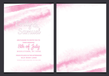 Vector Delicate Watercolor Wedding Invitation - vector gratuit #428999