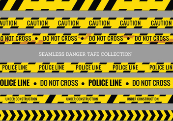Danger Tapes, Police Line and Do Not Cross Seamless Vector - Free vector #429059