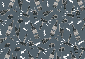 Broken Bottle Pattern Vector - Kostenloses vector #429079