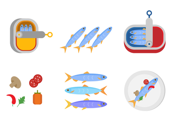 Fresh Canned Sardine - vector gratuit #429089
