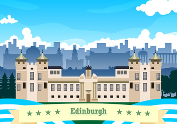 Landscape Of Edinburgh Free Vector - бесплатный vector #429099