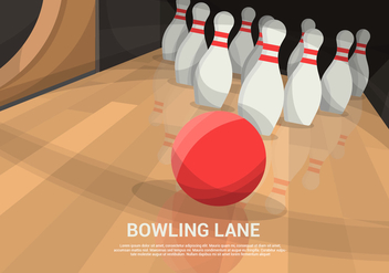 Bowling Lane Vector Background - vector gratuit #429109