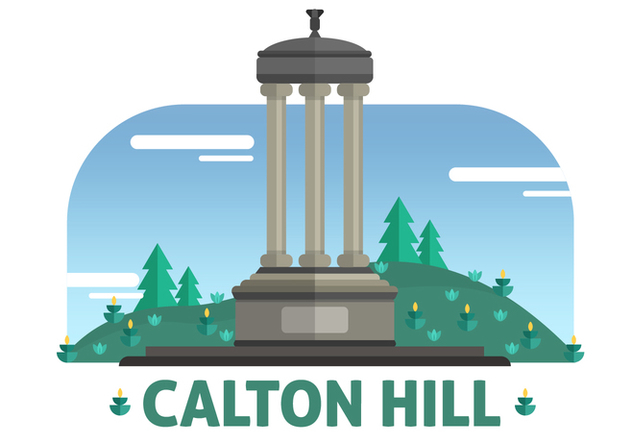 Calton Hill The Landmark of Edinburgh Vector Illustration - vector #429119 gratis