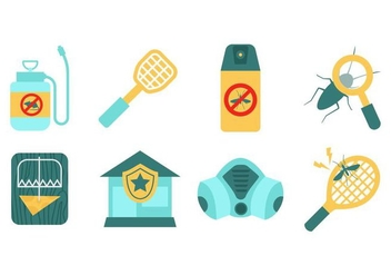 Free Pest Control Elements Vector - Free vector #429129