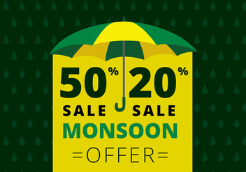 Monsoon Offer Template Free Vector - Free vector #429139