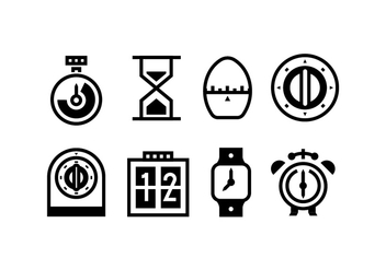 Timer Outlined Vector Icons - vector gratuit #429179