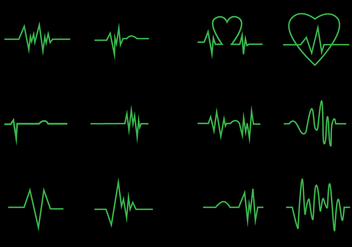 Neon Heart Pulse Icon Vectors - vector #429219 gratis