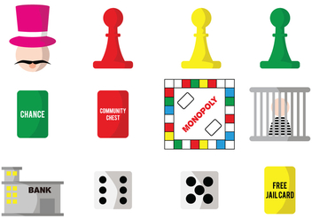 Monopoly Vector Game Pieces - vector gratuit #429229