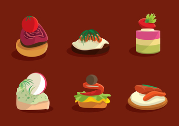 Canapes Menu Free Vector - бесплатный vector #429239