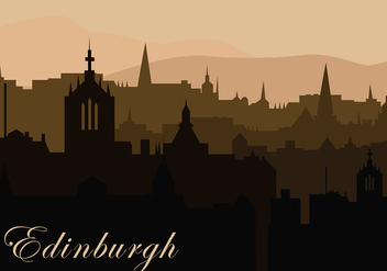 Edinburg Background Silhouette Free Vector - vector gratuit #429249
