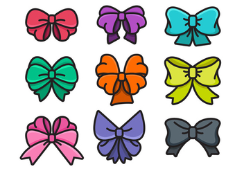 Colorful Hair Ribbon Vector Icon - vector gratuit #429289