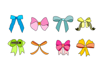 Hair Ribbon Free Vector - vector gratuit #429299