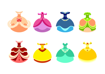 Princess Dress Free Vector - бесплатный vector #429319
