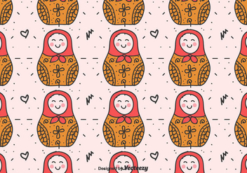Matryoshka Dolls Vector Pattern - Kostenloses vector #429409