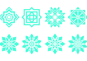 Islamic Ornament Symbols - бесплатный vector #429439