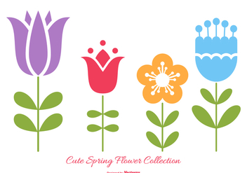 Cute Spring Flowers Collection - бесплатный vector #429449