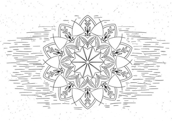 Free Mandala Vector Flower Illustration - Free vector #429459