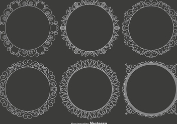 Vector Set Of Vintage Frames - vector gratuit #429489