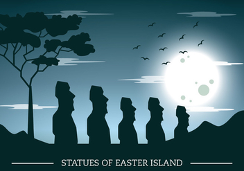 Easter Island Silhouette - Kostenloses vector #429549