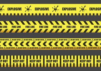Warning Tape Illustrations - vector #429569 gratis