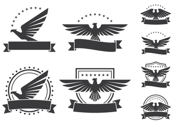 Eagle Emblems Shield Icons - бесплатный vector #429639