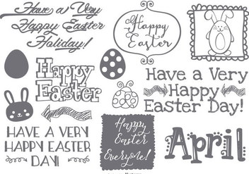 Cute Easter Doodle Collection - Free vector #429649