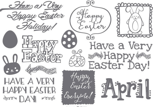 Cute Easter Doodle Collection - Kostenloses vector #429649
