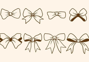 Hand Drawn Hair Ribbon Vectors - vector gratuit #429819