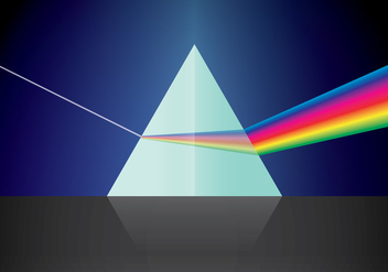 Triangular Prism and Light - vector #429879 gratis