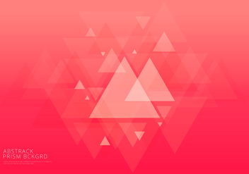 Abstract Prism Background and Text Template - vector gratuit #429889