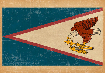 American Samoa Flag on Grunge Background - Kostenloses vector #429899