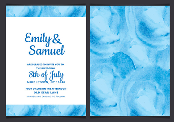 Vector Wedding Invitation with Watercolor Elements - бесплатный vector #429919