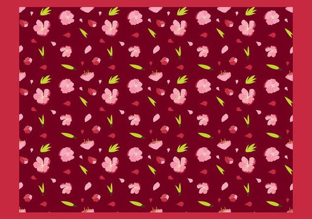 Peach Blossom Seamless Patern Free Vector - Kostenloses vector #429939