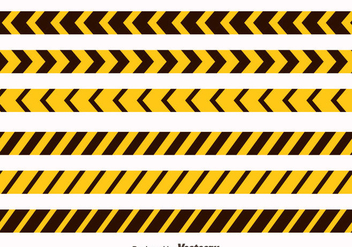 Yellow And Black Danger Tape Collection Vector - vector gratuit #429999