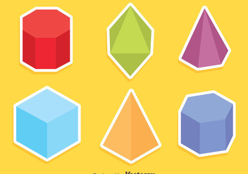 Colored Geometric Shapes Vector - vector gratuit #430009