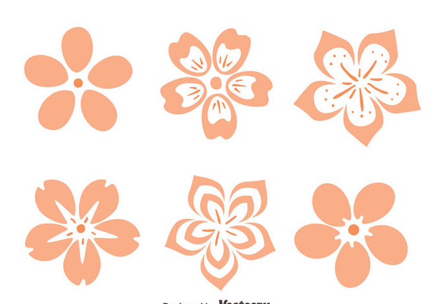 Peach Blossom Flowers Vector - Kostenloses vector #430019
