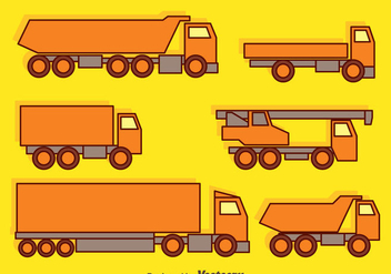 Trucks Collection Vector - vector #430029 gratis
