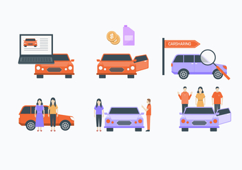 Carpool Element Collection - Free vector #430049