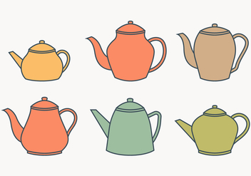 Teapot collection - vector gratuit #430059