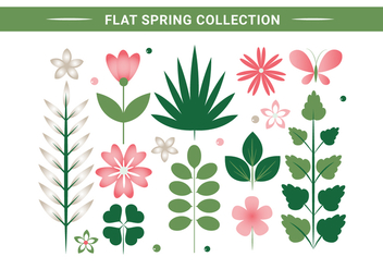 Free Spring Flower Wreath Background - Kostenloses vector #430069