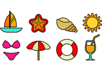 Set Of Playa Icons - Kostenloses vector #430089