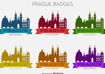 Vector Prague City Colorful Badges - vector gratuit #430159