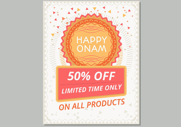 Happy Onam Sale Poster Template - Free vector #430199