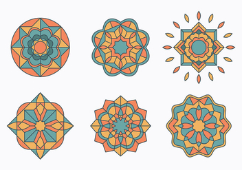 Islamic Ornaments Set - Free vector #430209