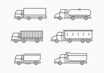 Camion Collection Set - vector #430219 gratis